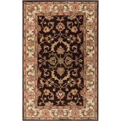 Oxford Aria Chocolate 7 ft. 6 in. x 9 ft. 6 in. Indoor Area Rug