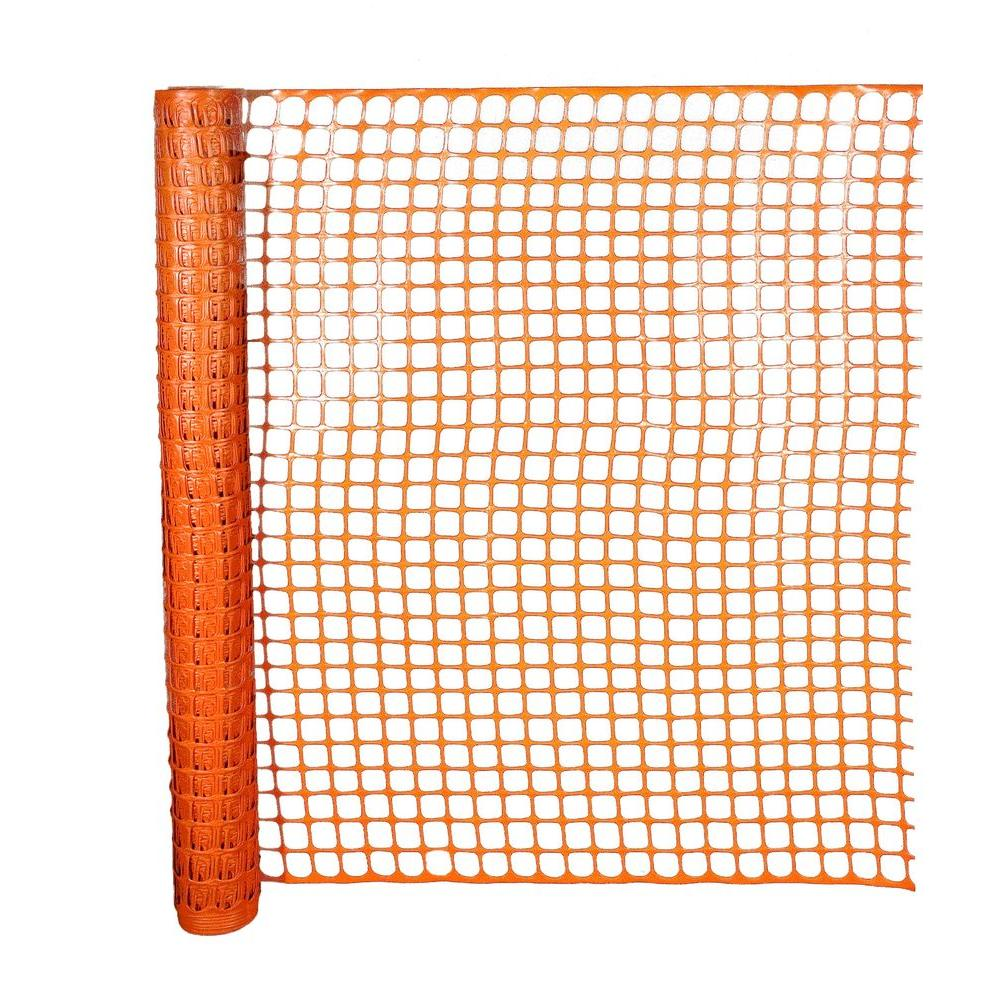 HDX 4 ft. x 50 ft. Safety Edge Fence in Orange