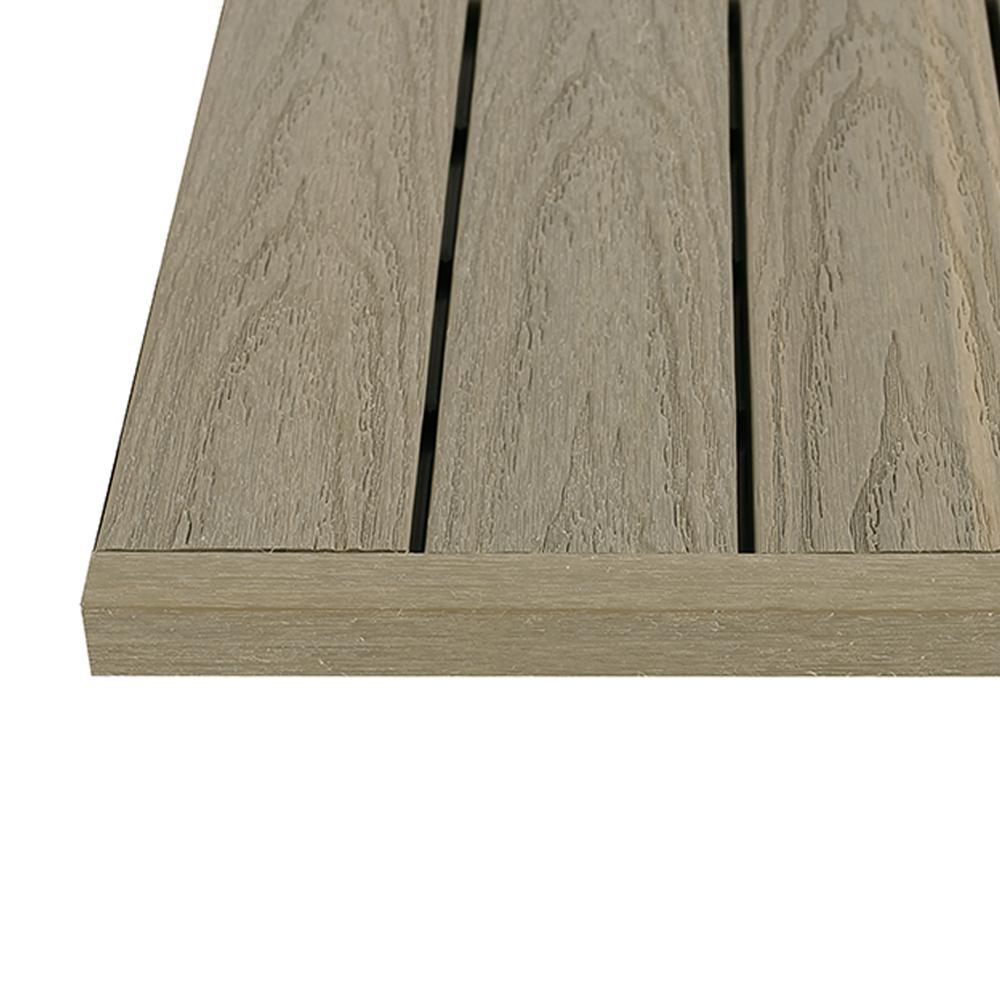 1/12 ft. x 1 ft. Quick Deck Composite Deck Tile Straight Fascia in Roman Antique (4-Pieces/Box)