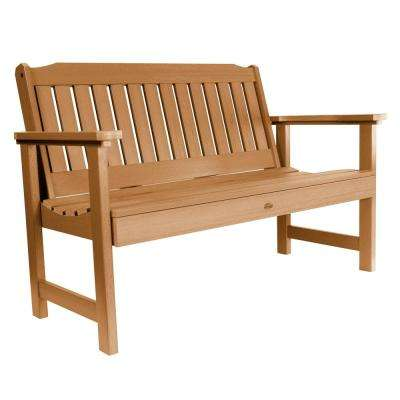 Lehigh 48 in. 2-Person Toffee Recycled Plastic Outdoor Garden Bench