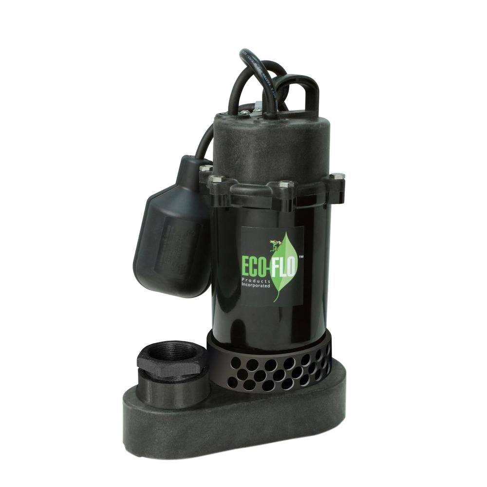 Ecoflo 1/2 HP Submersible Sump Pump with Wide Angle Switch