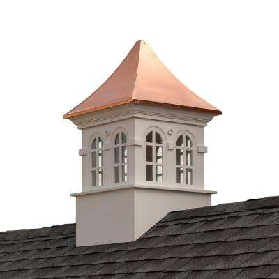 Smithsonian Stafford 26 in. x 43 in. Vinyl Cupola with Copper Roof