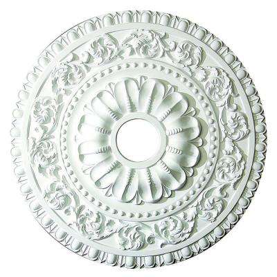 23-5/8 in. x 2-1/8 in. Leaf Scroll Polyurethane Ceiling Medallion