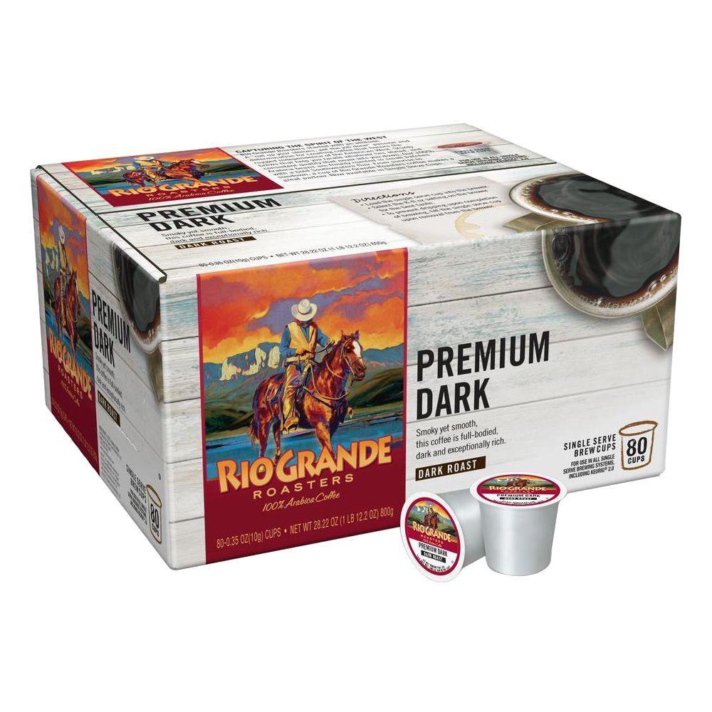 Premium Dark Coffee (80 Single Serve Cups per Case)