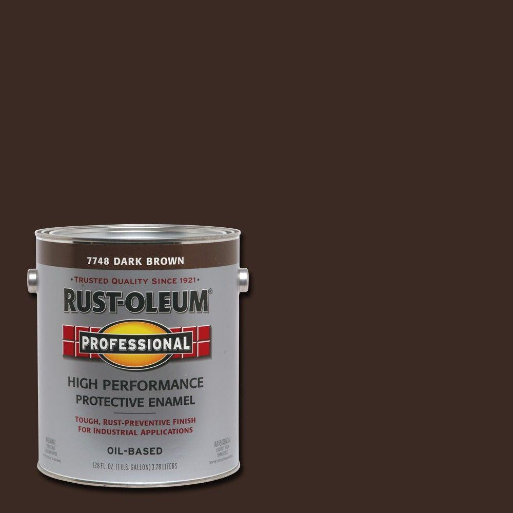 Rust-Oleum Professional 1 gal. High Performance Protective Enamel Gloss Dark Brown Oil-Based Interior/Exterior Industrial Paint (2-Pack)