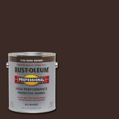 1 gal. High Performance Protective Enamel Gloss Dark Brown Oil-Based Interior/Exterior Industrial Paint (2-Pack)