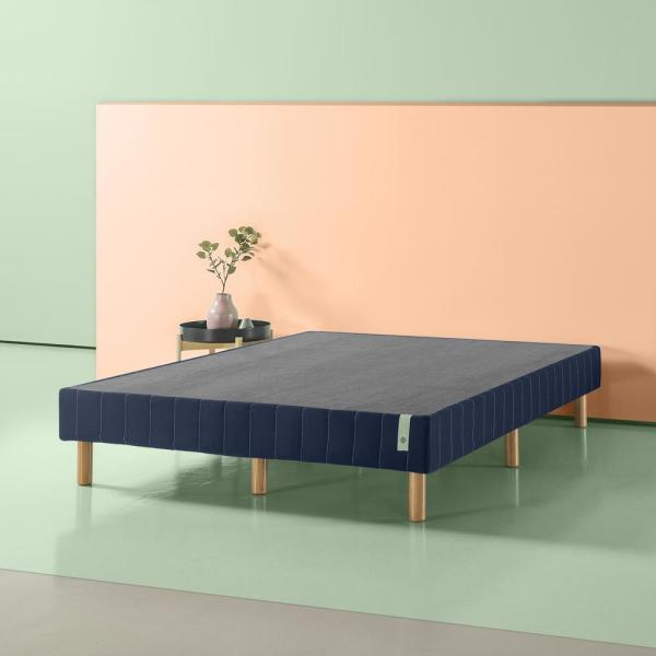 GOOD DESIGN Winner - Justina Navy California King 14 In. Quick Snap Standing Mattress Foundation