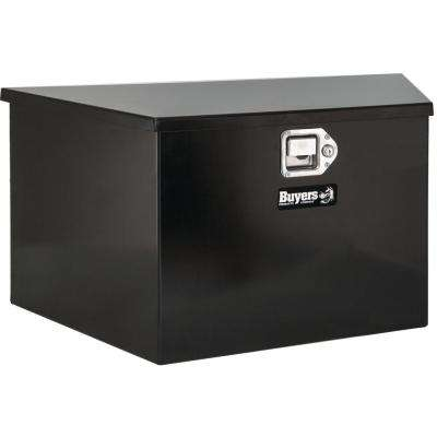 Black Steel Trailer Tongue Truck Box with Paddle Latch, 15 in. x 14.5 in. x 34/22.5 in.