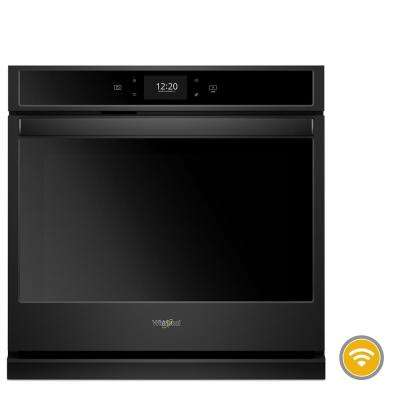 30 in. Smart Single Electric Wall Oven with True Convection Cooking in Black