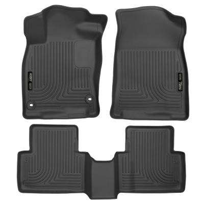 Front & 2nd Seat Floor Liners Fits 16-18 Civic Coupe/Civic Sedan