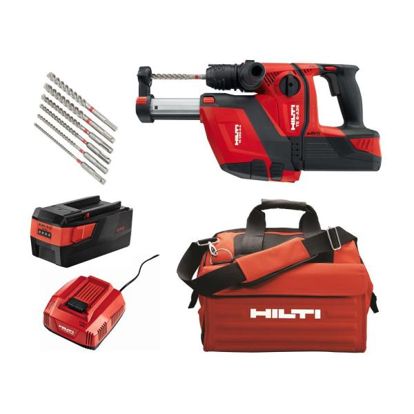 36-Volt B36/5.2 Lithium-Ion 1/2 in. SDS Plus Cordless Rotary Hammer TE 6-A36 Industrial with DRS Kit