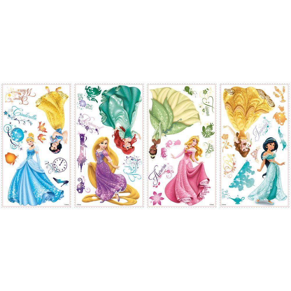 Roommates Disney Princess Royal Debut Peel And Stick 37 Piece Wall