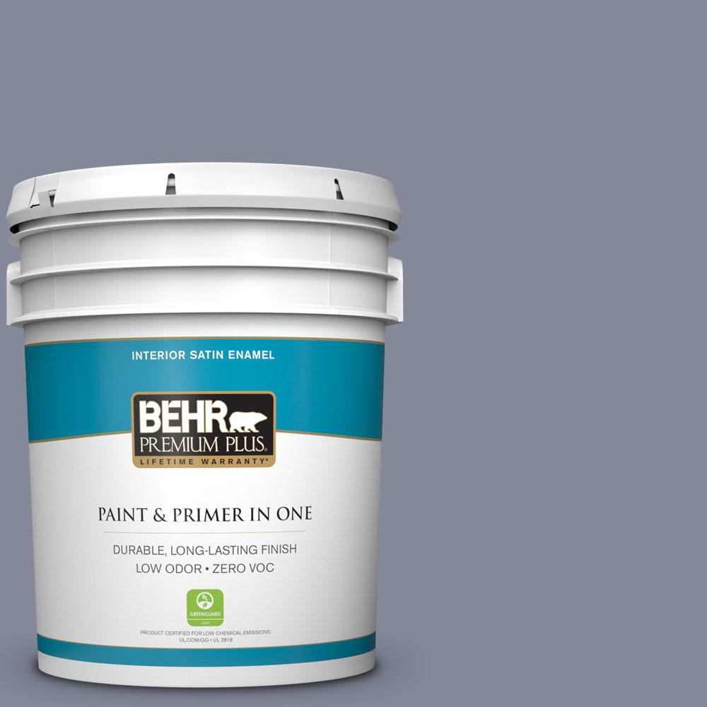5 gal. #PPU15-08 River Tour Zero VOC Satin Enamel Interior Paint