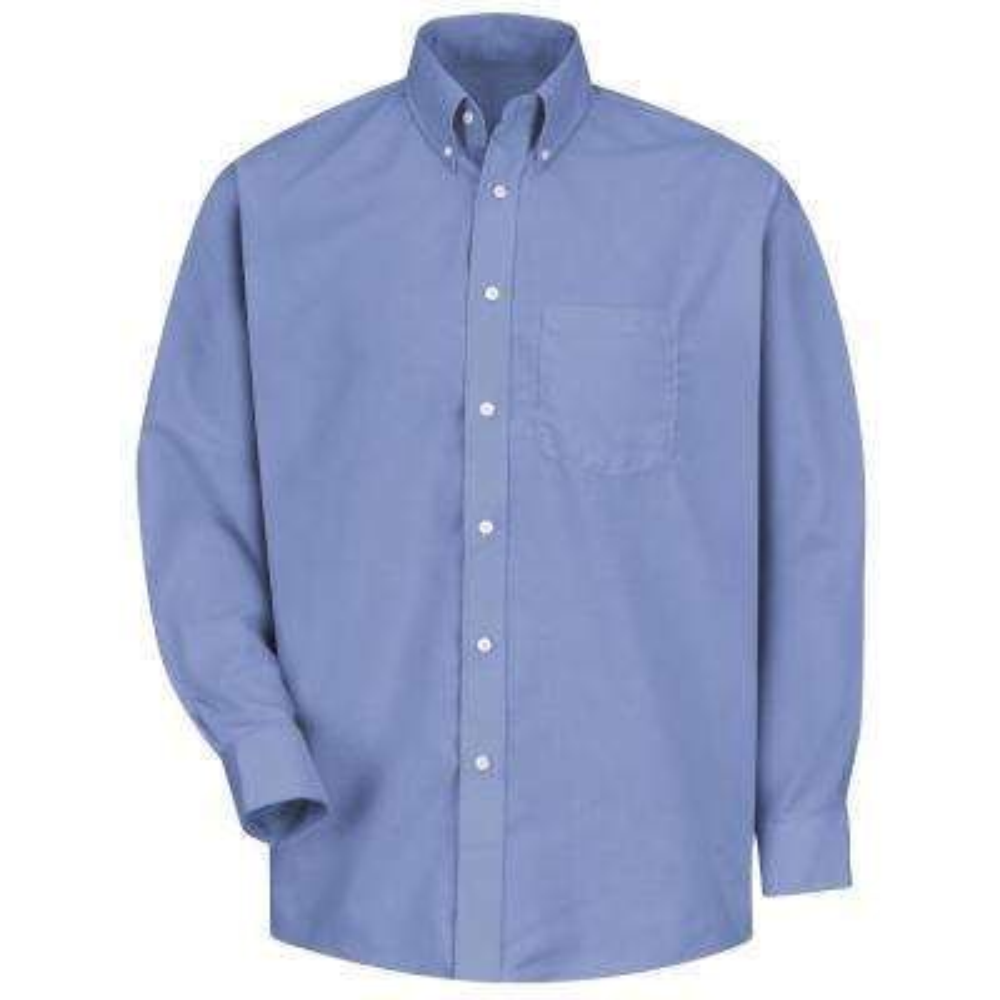 Men's Size 3XL x 36/37 Light Blue Easy Care Dress Shirt