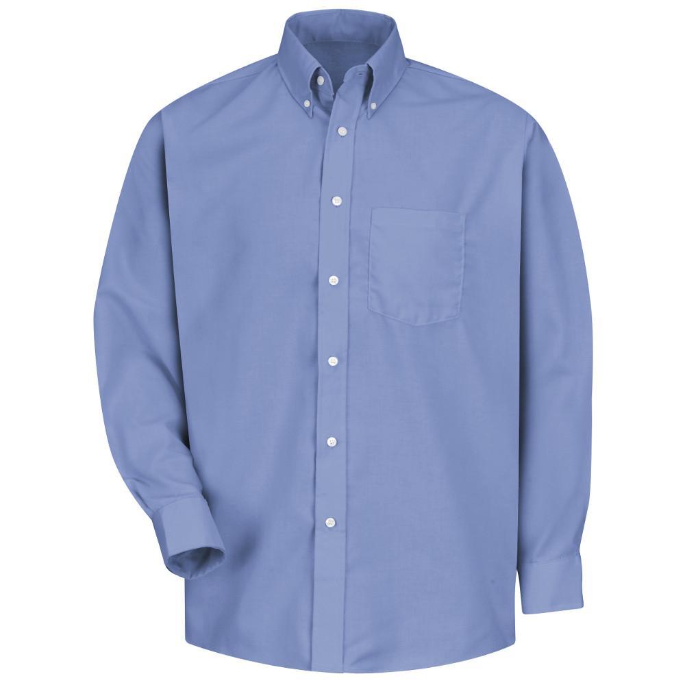 Men's Size 2XL x 36/37 Light Blue Easy Care Dress Shirt