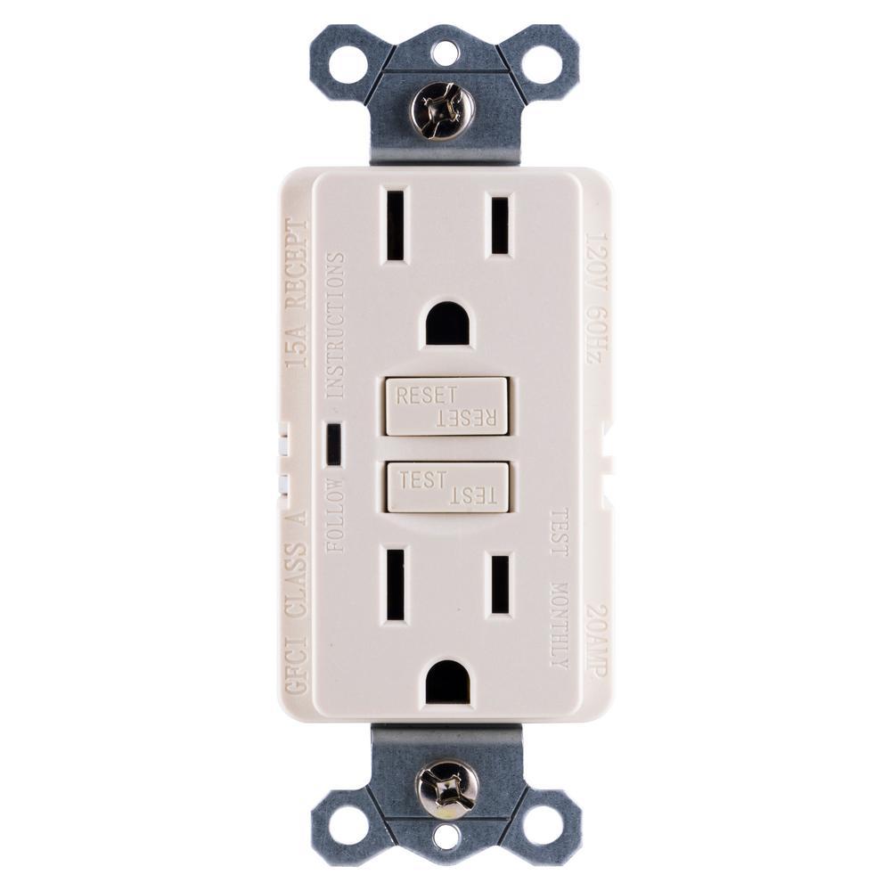 leviton 15 amp 125 volt combo self test tamper resistant gfci outlet15 amp self test gfci outlet, light almond