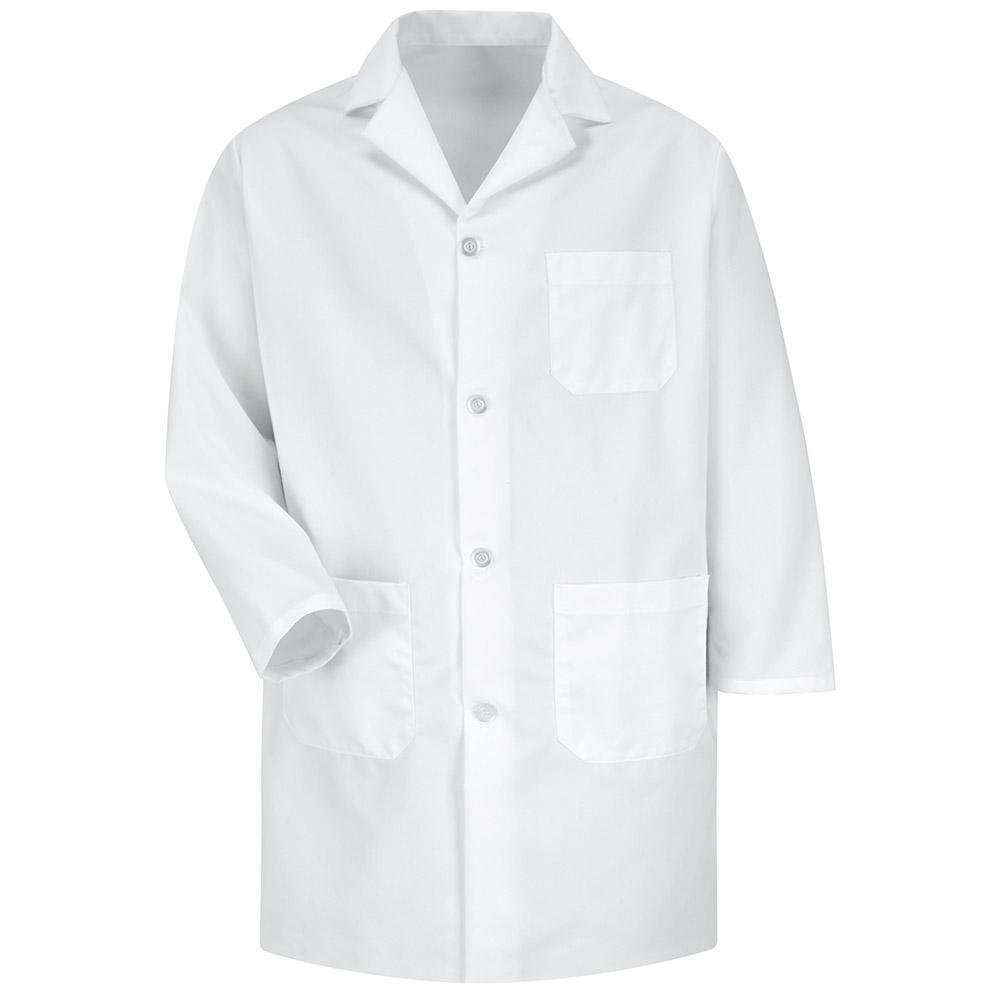 Men's X-Large White Staff Coat