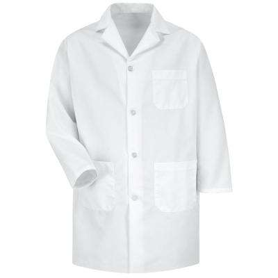 Men's X-Large White Staff Coat