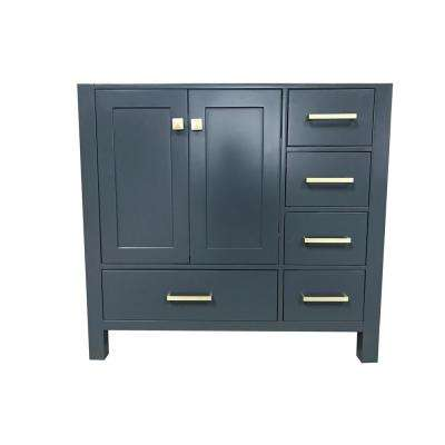 Cambridge 36 in. W x 21.5 in. D Vanity Cabinet Only in Midnight Blue