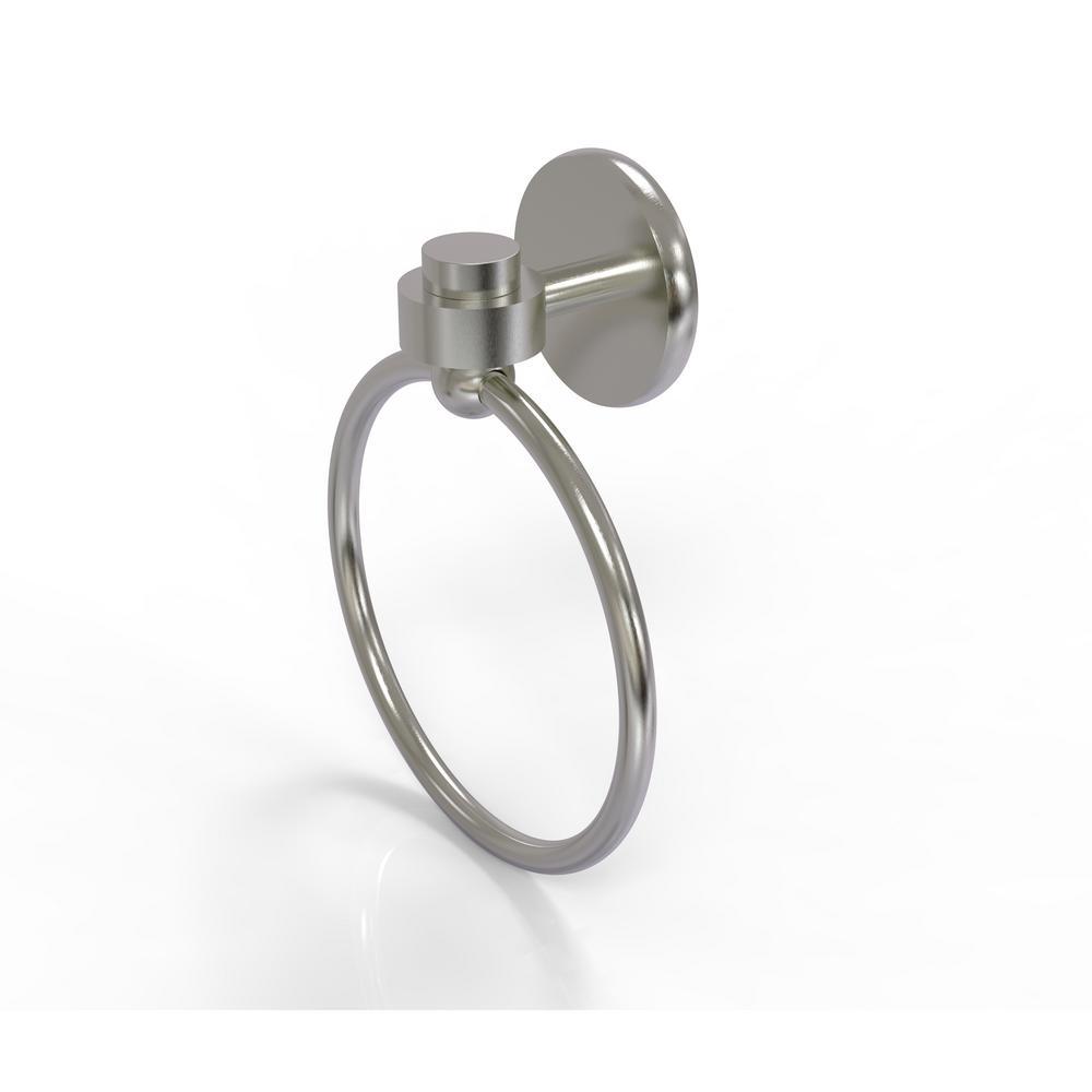 Satellite Orbit One Collection Towel Ring in Satin Nickel