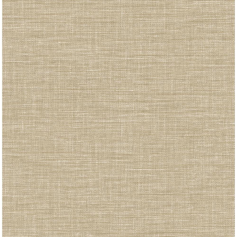 York Wallcoverings Taupe Grasscloth Strippable Non Woven: A-Street Exhale Taupe Faux Grasscloth Wallpaper Sample