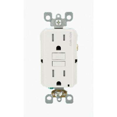15 Amp 125-Volt AFCI/GFCI Dual Function Outlet, White