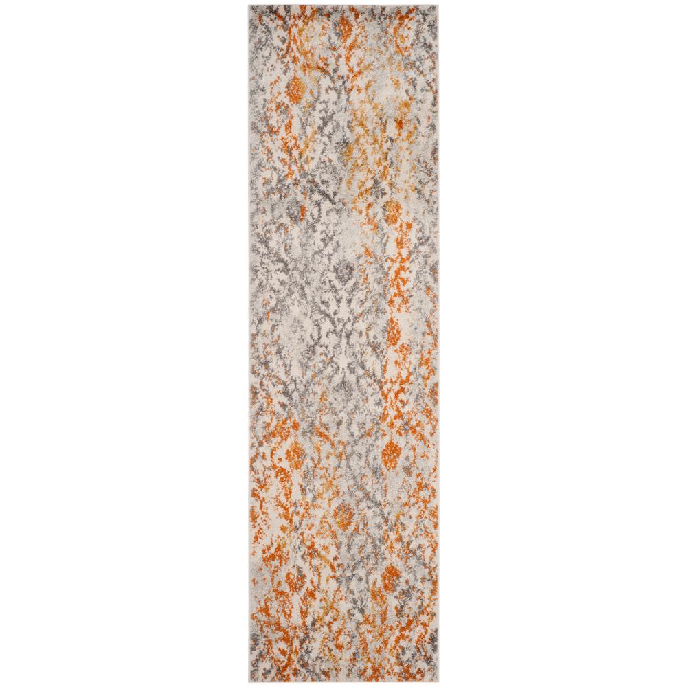 Madison Cream/Orange 2 ft. x 8 ft. Runner Rug