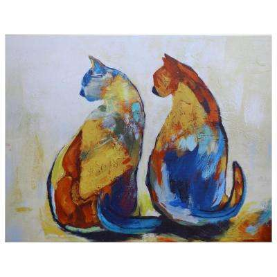 "40 in. x 40 in. ""Two Friends"" Canvas Printed Unframed Wall Art"