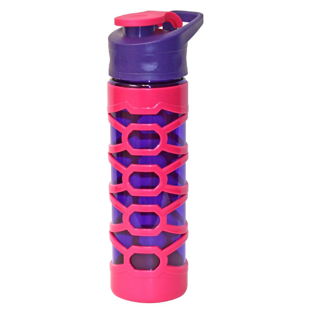 22 oz. Purple and Pink Plastic Tritan Hydration Bottle (6-Pack)