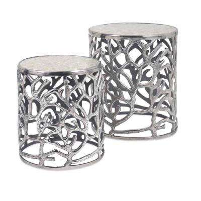 Daltry Silver Coastal Tables (Set of 2)