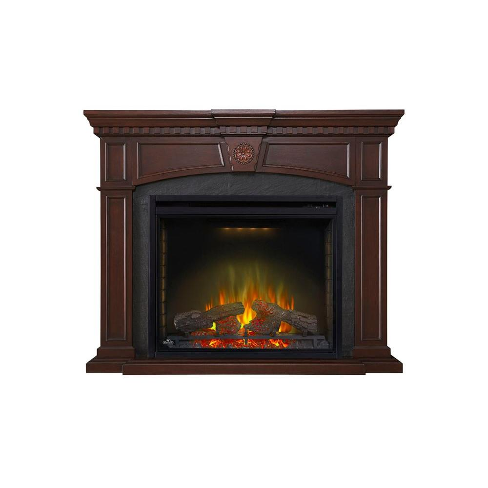 Napoleon Harlow 55 In X 45 3 In Mantel With 34 In Firebox Nefp33 0114m The Home Depot