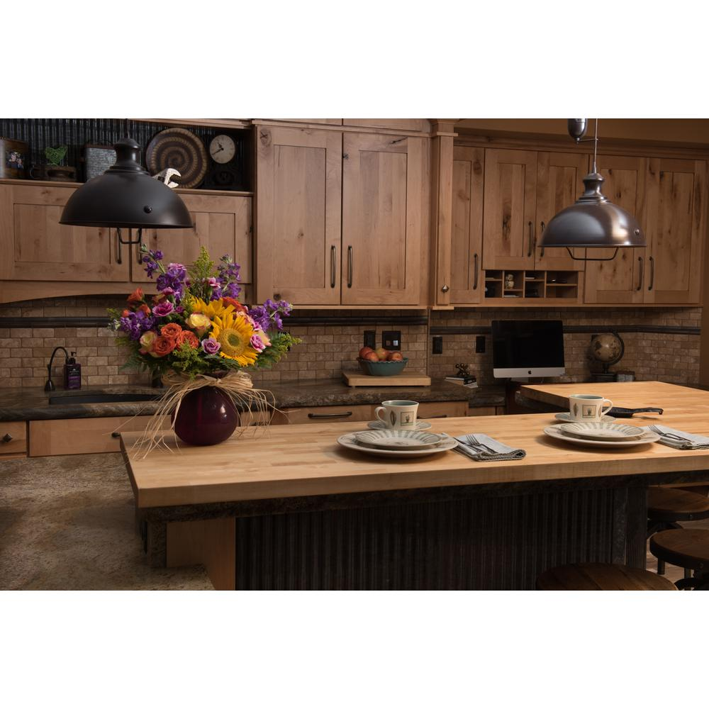 Butcher Block Countertop Solid Wood Kitchen Antimicrobial Island Top Unfinished 633941002194 eBay