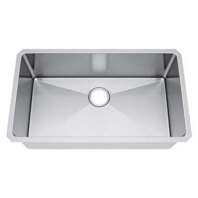 All-in-One Undermount Stainless Steel 29 in. Single Bowl Kitchen Sink