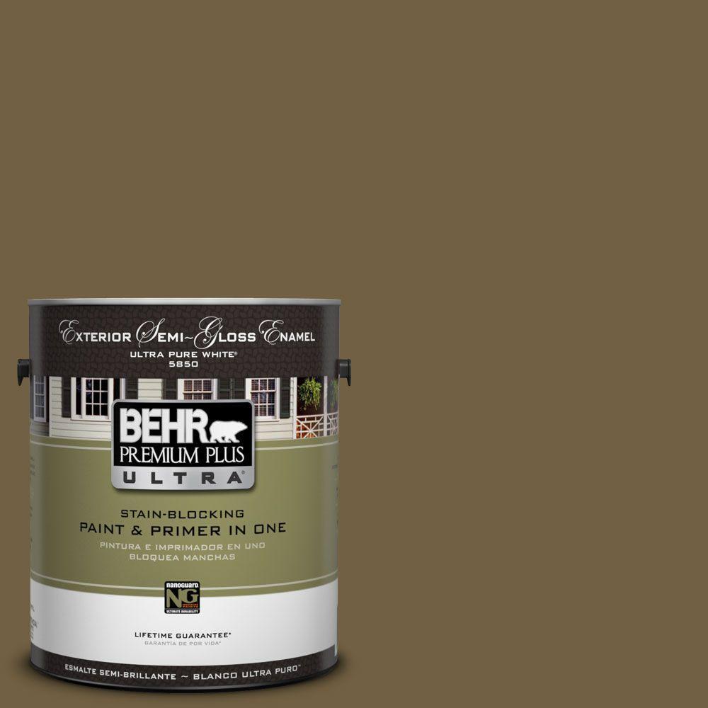 BEHR Premium Plus Ultra 1-Gal. #UL180-27 Tree Swing Semi-Gloss Enamel Exterior Paint