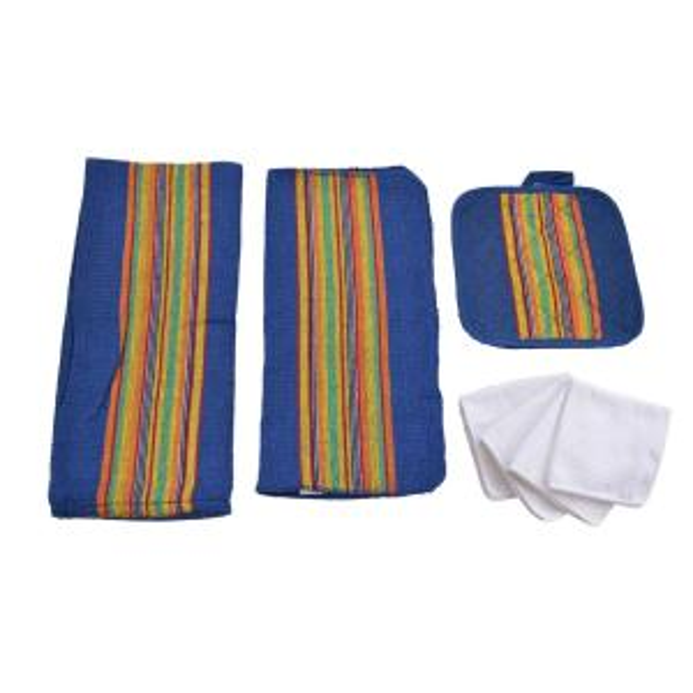 Home Basics Sierra Kitchen Towel Set in Navy (8-Piece) by Home Basics