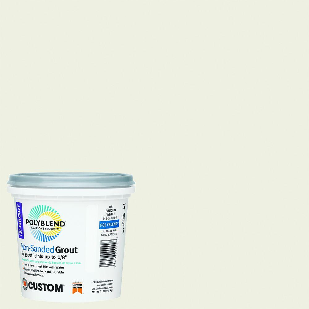 Custom Building Products Polyblend #381 Bright White 1 lb. Non-Sanded Grout