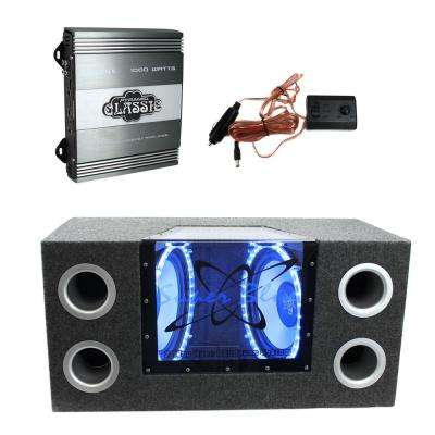 10 in. 1000-Watt Subwoofer Bandpass System Plus 1000-Watt 2-Channel Amplifier