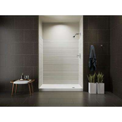 Choreograph 32 in. x 60 in. x 72 in. Shower Kit with Right Hand Drain in VeinCut Dune