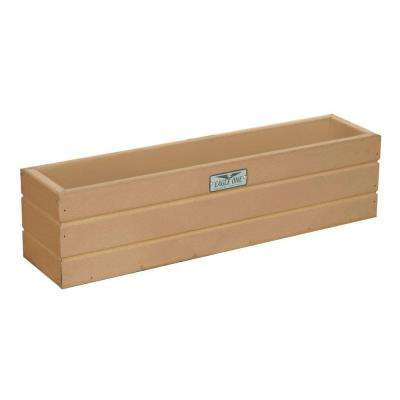 21.5 in. x 5 in. x 5.5 in. Cedar Recycled Plastic Commercial Grade Window Box Planter