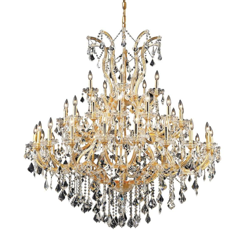 Elegant lighting 41 light gold chandelier with clear crystal elegant lighting 41 light gold chandelier with clear crystal aloadofball Choice Image