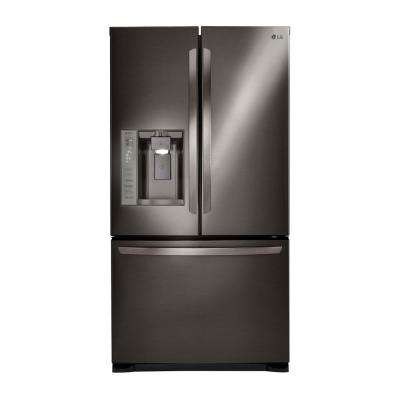 24.1 cu. ft. French Door Refrigerator in Black Stainless Steel, Dual Ice Maker