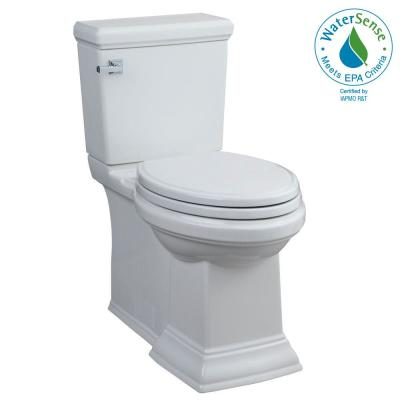Town Square FloWise 2-piece 1.28 GPF Single Flush Tall Height Elongated Toilet in White