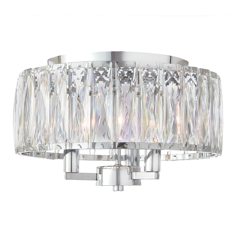 Home decorators collection 3 light chrome flush mount