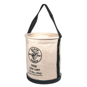 Canvas Bucket, Wide-Opening, Straight-Wall, Molded Bottom, 12-Inch