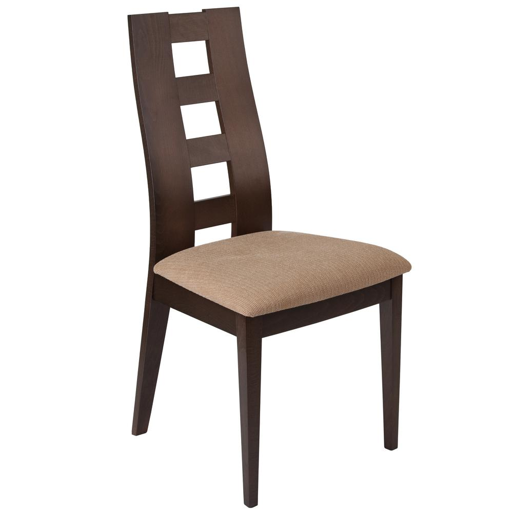 Preston walnut side chair