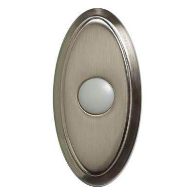 Wireless Door Bell Push Button, Brushed Nickel