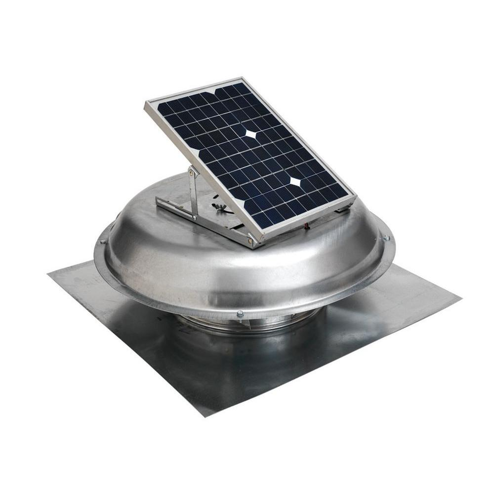 500 CFM Solar Powered Roof Mount Exhaust Fan  sc 1 st  Home Depot & Attic Fans u0026 Vents - Ventilation - The Home Depot