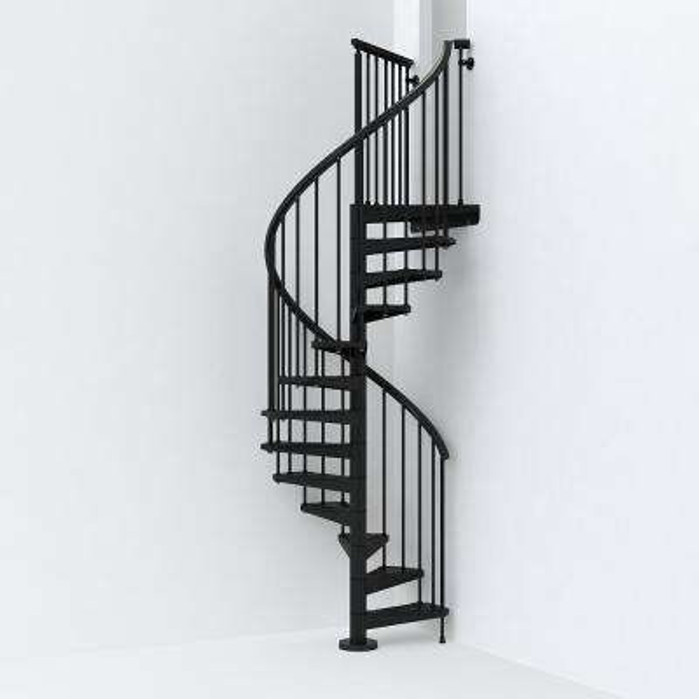 SKY030 47 in. Black Spiral Staircase Kit