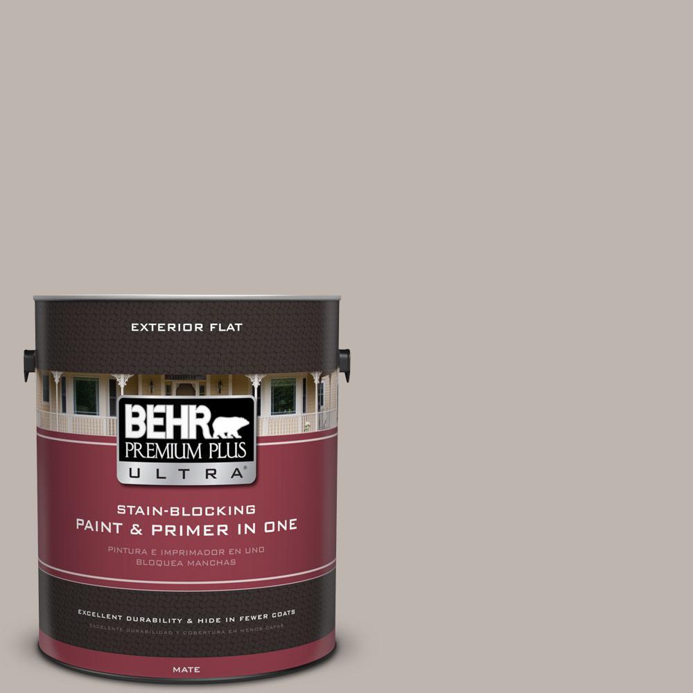 BEHR Premium Plus Ultra 1-Gal. #PPU18-12 Graceful Gray Flat Exterior Paint