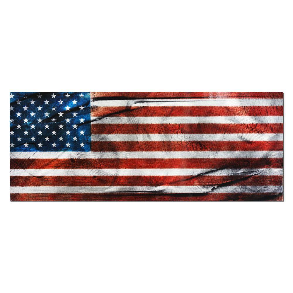 Brevium 19 in. x 48 in. American Glory Metal Wall Art
